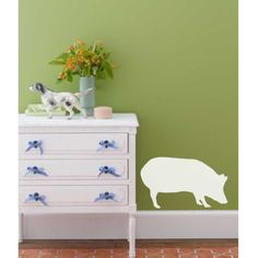 Pig Wall Decal by luxeloft on Etsy