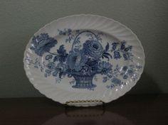 Vintage~Blue~Charlotte~Clarice Cliff ~Royal Staffordshire~TRANSFERWARE~Platter~ Clarice Cliff, Platter, Decorative Plates, Charlotte, Blue And White, Tableware, Vintage, Home Decor, Dinnerware