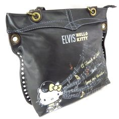"""'french touch' bag """"Hello Kitty"""" black."""
