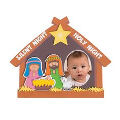 Nativity Picture Frame Magnet Craft Kit - OrientalTrading.com  2.58 to make 12