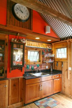 """A Historical and Hand-Crafted """"Folk Nouveau"""" Kitchen in Rhode Island  Kitchen Spotlight"""
