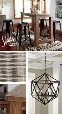Casual Dining Rooms - Dining Room Furniture - Bar Stools - Pinnadel Dining Room - Ashley Furniture Homestore, Atrium, Dartmouth, NS