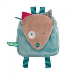 Mochila Lobo, Moulin Roty - My Little Zoo, baby shop Small Notebook, French Fabric, Le Jolie, Kids Bags, Kids Backpacks, Handmade Bags, Baby Love, Baby Shop, Gifts For Kids