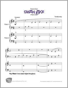 swan lake easy piano pdf