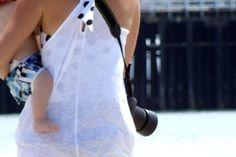-Alicia Diaz  a mother and her baby boy at Santa Cruz Boardwalk