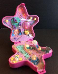 Bluebird Polly Pocket 1993 La Be Fairy Fantasy Light Up Star Compact Swing Works | eBay