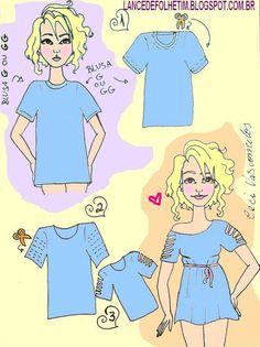 idéia para Customizar Camiseta | SOS Solteiros