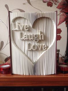 Leven liefde lachen knippen en vouwen boek door SmartCraftBySuzanne