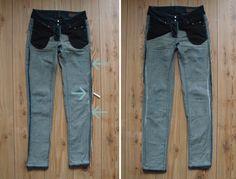 Eine Anleitung, um eine ausgeleierte Jeans wieder passend zu machen oder eine zu große, gerade Hose in eine Röhre verwandelt.