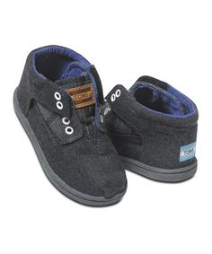 Look at this TOMS Blue Tartan Wool Botas - Tiny on #zulily today!
