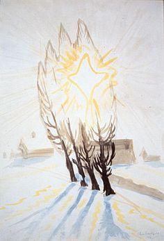 CHARLES BURCHFIELD Winter Sun Through the Poplars (1916)