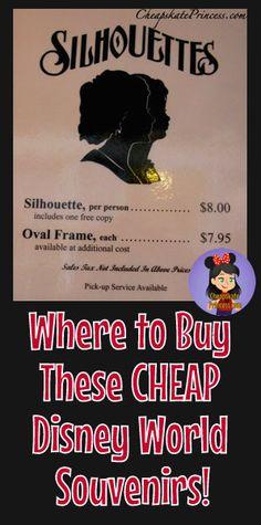 Cheap Disney World Souvenirs: Where to Purchase a Silhouette - Disney's Cheapskate Princess Disney World Souvenirs, Disney World Parks, Walt Disney World Vacations, Disney Cruise, Disney College, Disney Destinations, Disney World Tips And Tricks, Disney Tips, Disney On A Budget