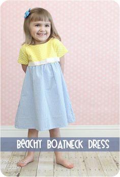 Beachy  Boatneck Dress Pattern Flip