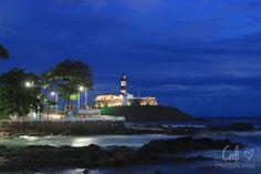 O Mundo de Calíope: Por do sol na Praia da Barra em Salvador