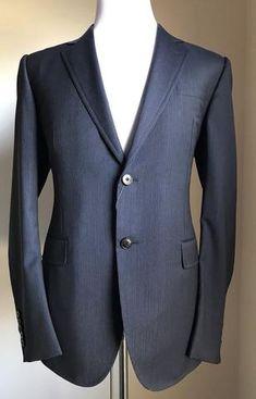 48f1b2bda7d New $3145 Gucci Wool Suit Gray Black Striped Stripped 40R US ( 50R Eu) Italy