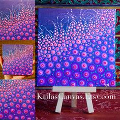 New Dot Painting...Pinks Purple PassionArt by Kaila Lance, Dot Mandala, Dot Painting, Mandala Art, Sacred Geometry Art, Painted Stones, Mandala Stones, Meditation Stones, KailasCanvas.Etsy.com
