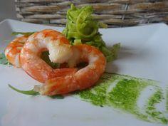 Czary w kuchni- prosto, smacznie, spektakularnie.: Makaron all' uovo z pesto z rukoli i krewetkami Pesto Pasta, Shrimp, Meat, Pasta Al Pesto