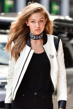 Shop the hottest leather motorcycle jacket looks: Gigi Hadid