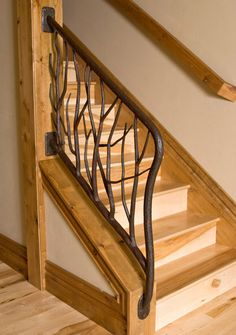 Railings and handrail custom designed and forged of steel, bronze, copper