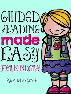 Reading Made Easy {A Complete Resource} For Kinders! Guided Reading Made Easy {A Complete Resource} For Kinders!Guided Reading Made Easy {A Complete Resource} For Kinders! Guided Reading Activities, Guided Reading Lessons, Guided Reading Groups, Teaching Kindergarten, Reading Strategies, Reading Skills, Teaching Reading, Kindergarten Guided Reading, Learning