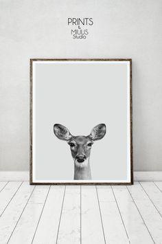 Deer Print Printable Kids Gift Fawn Baby Deer by PrintsMiuusStudio