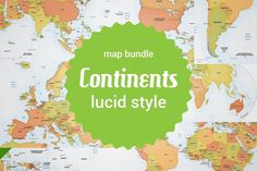 Bundle of 8 vector continent maps by One Stop Map on Creative Market