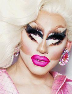 Drag Queen Makeup, Drag Makeup, Makeup Art, Rupaul Drag Queen, Trixie And Katya, Queen Love, The Vivienne, Wow Art, Barbie Dream