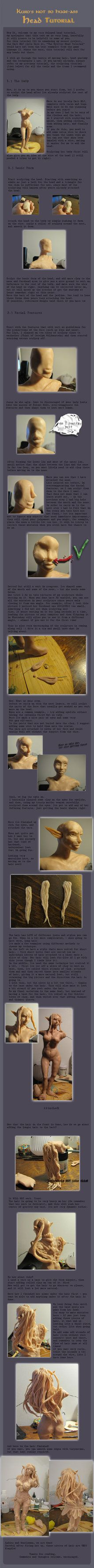 Head Sculpting Tutorial by *Kurokono on deviantART