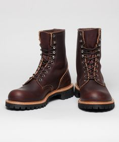 Red Wing 4585 Logger - great selection of Red Wing available at Norse Store. Red Wing Logger Boots, Red Wing Boots, Polo Boots Men, Bottes Red Wing, Jamel, Mens Boots Fashion, Cool Boots, Men's Boots, Prada Shoes