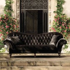 A statement sofa can elevate your space and scream luxury. Here are a few thoughts on designing a space with a statement sofa. Living Room Sofa, Living Room Furniture, Home Furniture, Dining Room, Velvet Furniture, Furniture Upholstery, Upholstery Tacks, Upholstery Cushions, Upholstery Cleaning