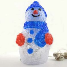 Figura luminosa led Muñeco de nieve (80 led). Simpático muñeco perfecto para dar el aspecto navideño a nuestra casa o negocio.