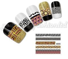 NAIL ART WATER TRANSFER STICKERS DECALS WRAPS NEW FASHION STYLE(C96)