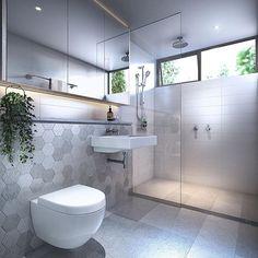 Greenery in the bathroom. Small Bathroom With Shower, Bathroom Design Small, Downstairs Bathroom, Bathroom Renos, Laundry In Bathroom, Bathroom Inspo, Bathroom Layout, Bathroom Styling, Bathroom Interior Design