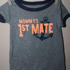 Mommy's 1st Mate short romper, 3 months,