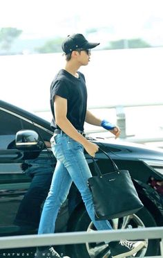 BTS Airport Fashion: Namjoon The last photo will always be one of my favorites.