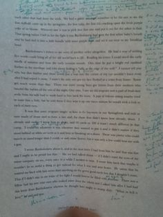 The author at work. A marked up draft of NEVERHOME by Laird Hunt.
