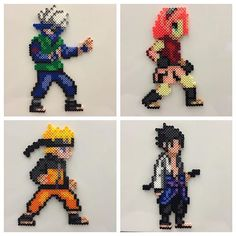 Naruto characters hama beads by Knits and Perls