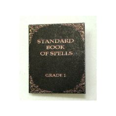Standard Book of Spells Handcrafted Magic Book ($9.95) ❤ liked on Polyvore featuring harry potter, books, fillers, hogwarts and hp