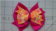 4 inch medium bows $3.00 or 2 for 5.50$ www.facebook.com/M.E.Sistersbowtique