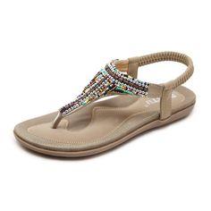 cb5d4ec64362 CARETOO Women s Summer Bohemian Flat Sandals Thong T-Strap Flower Slip on Flip  Flops Shoes