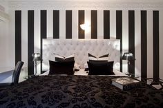 Old Hollywood Decorating  Black And White Stripes Or A Black And White  Damask Is A Great Place To Start!