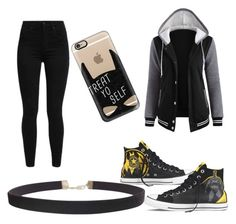 """""""Batman!!!💛🖤"""" by prettylittlelizzy on Polyvore featuring Levi's, Converse, Casetify and Humble Chic"""