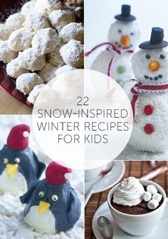 22 Snow-Inspired Winter Recipes for Kids from @Babble #Winter #recipes #kidfriendly