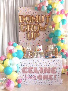 """""""Donut"""" Grow Up 1st Birthday Party on Kara's Party Ideas   KarasPartyIdeas.com (8)"""