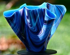 Aqua/Grape Swirl Vase Oklahoma City, Glass Design, Glass Art, Aqua, Vase, Gallery, Artist, Inspiration, Beautiful