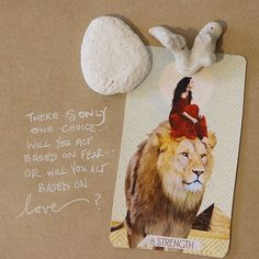 The more I dig into the Strength card the more I realize that true strength is rooted in one thing: Choosing love as your primary motivator. Every single choice we make - at the root of it - can be boiled down to this one question. Will you do it based on your fear or will you do it based on your love? #tarot #compassion #kindnessismagic #tarotreadersofinstagram #tarotartistsofinstagram #tarotart #indiedeck #sacredcreators #themusetarot #tarotofthemuse #sacred #intuition TᕼE ᗰᑌᔕE TᗩᖇOT… Divination Cards, Tarot Cards, Strength Tarot, Tarot Readers, Tarot Decks, Picture Frames, Indie, The Creator, This Or That Questions