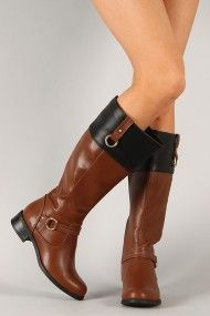 Soda Sam-H Two Tone O-Ring Riding Knee High Boot my new babies