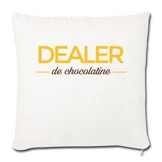 63cbed9df9510 Housse de coussin décorative 44 x 44 cm (Blanc) - DEALER de chocolatine -  Dans le sud c est Chocolatine, et pas Pain au chocolat, OK !!!