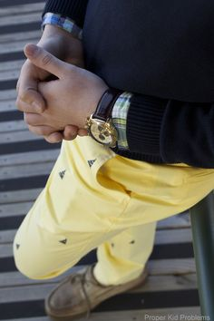 When life gives you lemons, wear yellow-colored pants.