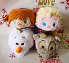 New Disney Store TSUM TSUM Plush soft Toy FROZEN Anna Elsa Olaf Sven set Japan #Disney
